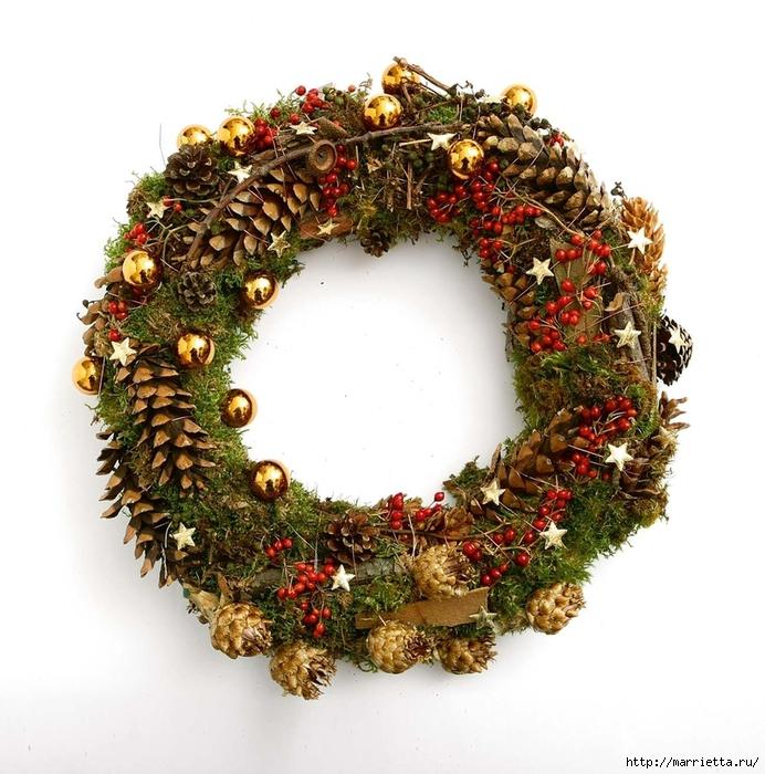 рождественский венок из грецких орехов (19) (692x700, 318Kb)