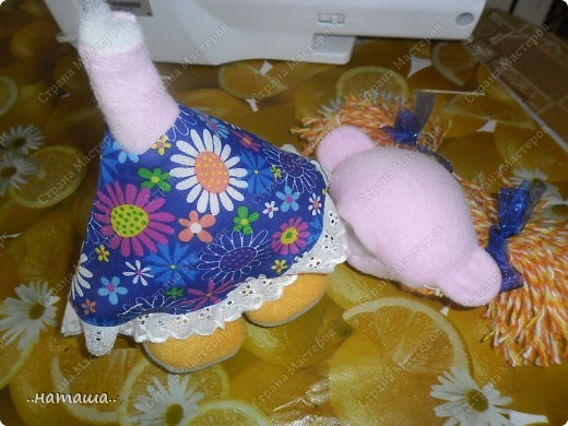 Игрушка, Куклы Шитьё: Куклята Пряжа, Пуговицы, Ткань. Фото 5