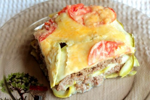 Запеканка из кабачка с мясом…