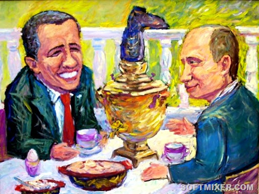 Русская еда зубами иностранцев