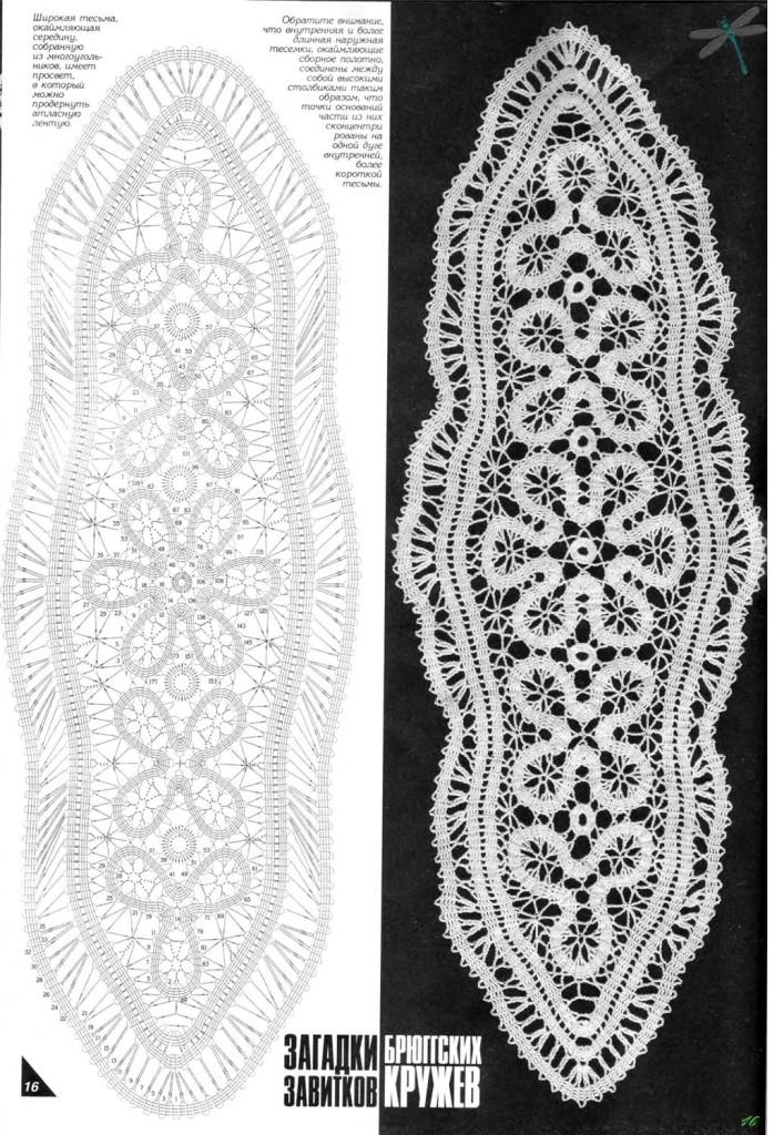 Схемы салфеток брюггским