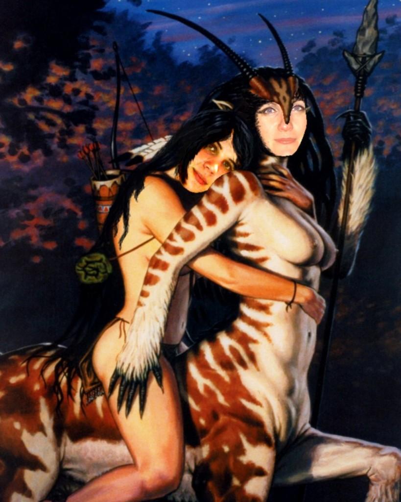 Порно с мифического существа