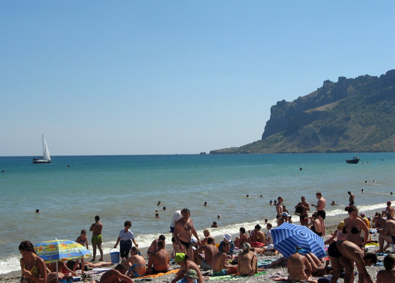 Коктебель фото пляж море отдыхающие