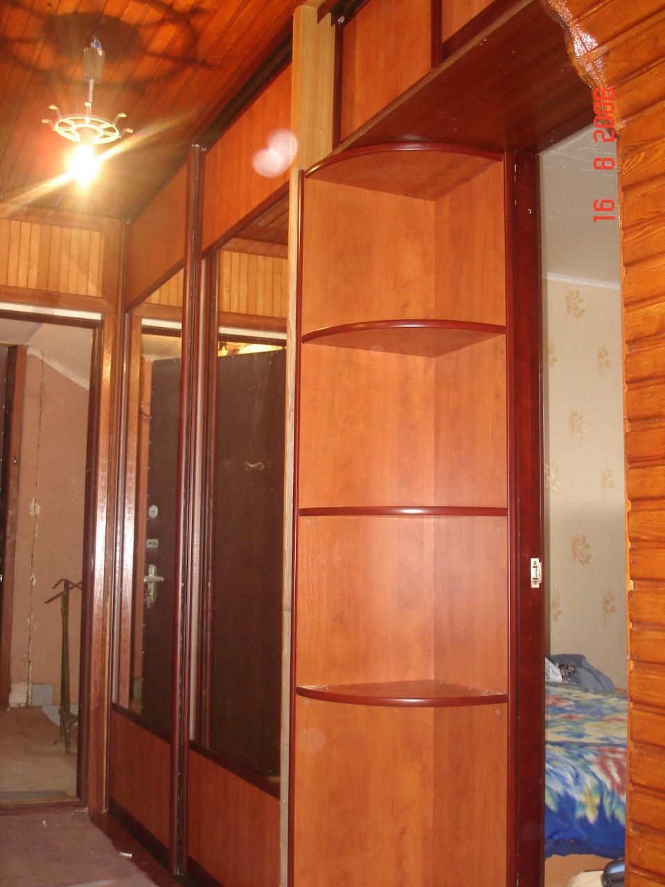 """Встроенный шкаф-купе,лдсп """"egger"""" кальвадос натуральный 16мм."""