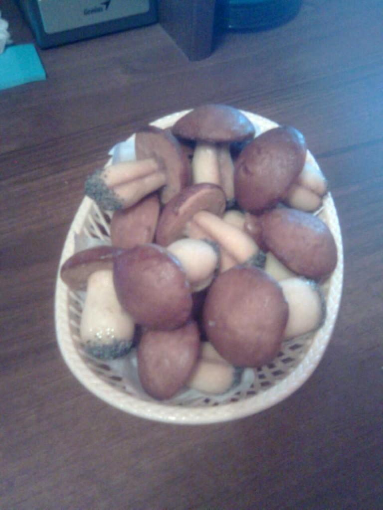печенье грибочки в форме рецепт с фото