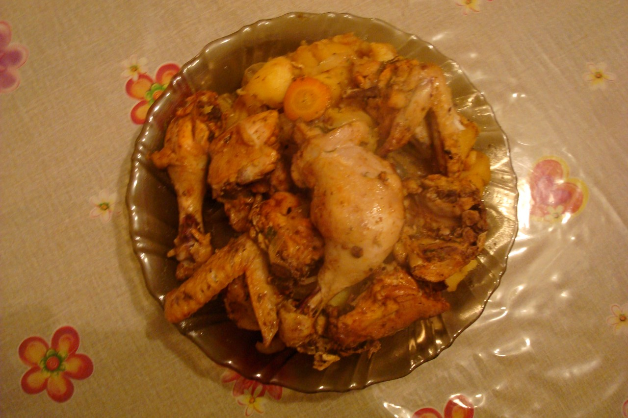 Окорочка с картошкой в духовке в рукаве рецепт пошагово в