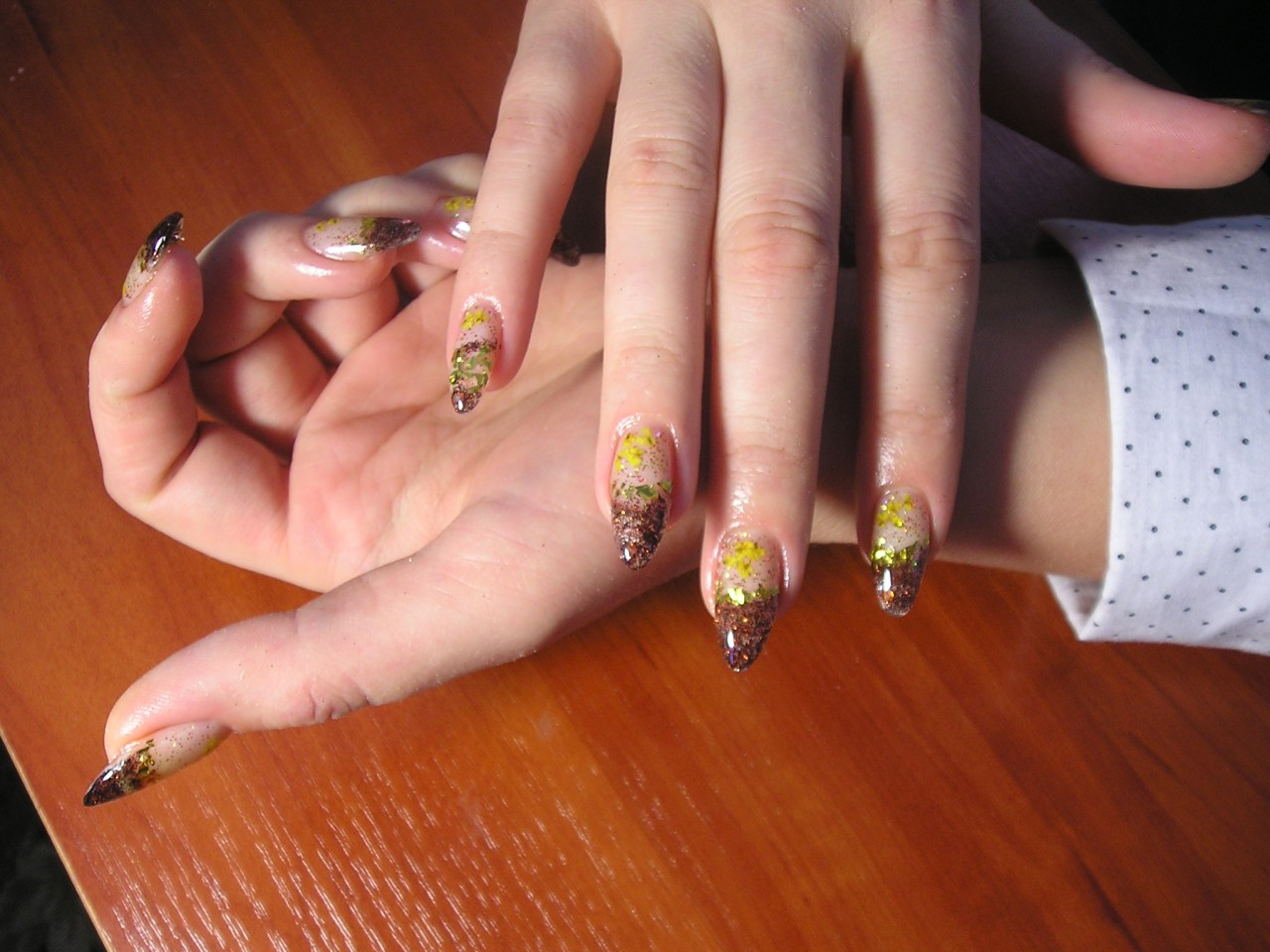 Дизайн аквариума ногтей фото