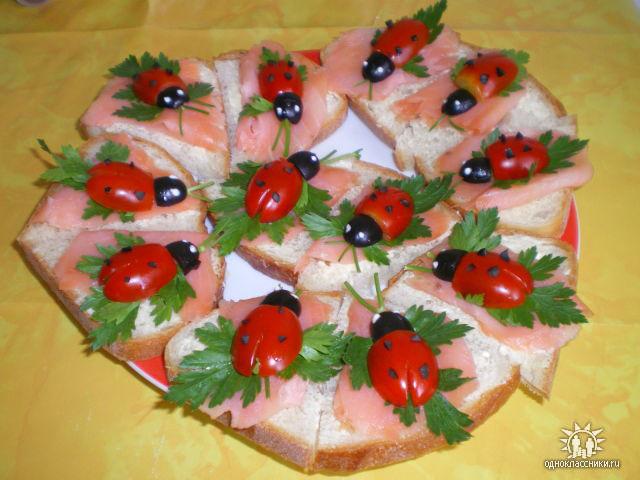 Украшения праздничных блюд своими руками фото