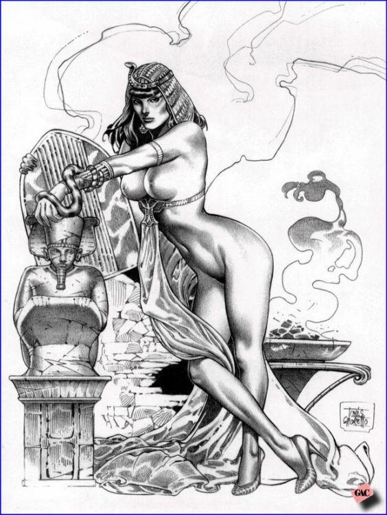 Рисованные порно богини