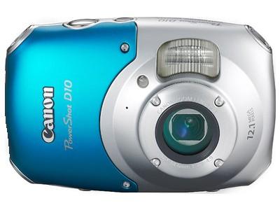 Водонепроницаемая камера Canon PowerShot D10 Уникальный фотоаппарат Canon PowerShot D10 - с ним можно погружаться в воду на глубину до 10 метров(!), ронять с высоты до 1,5 метров, а также использовать при температуре до -10 градусов Цельсия.