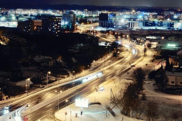 Ночной город...вид из окна.