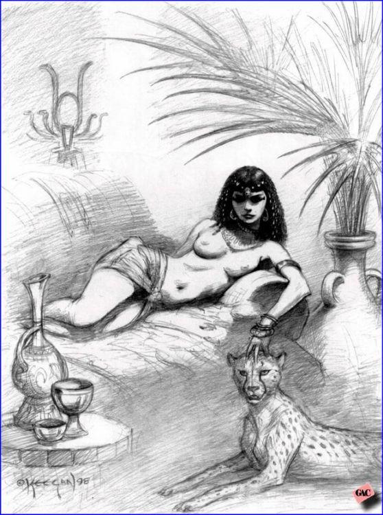 Египтянка рисунок порно