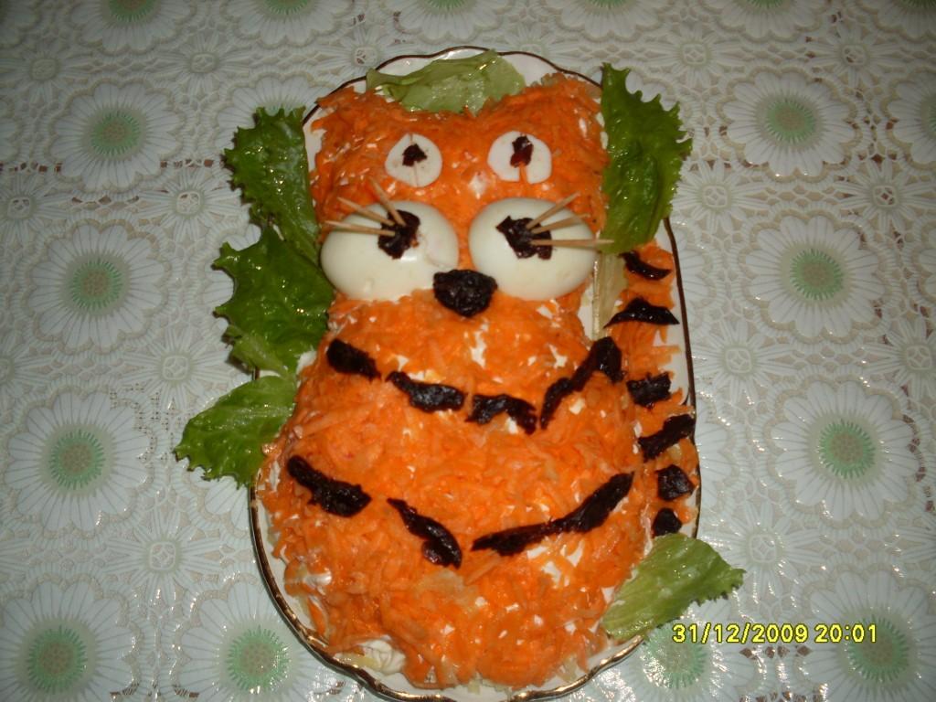 Фото рецепты салатов с тигром
