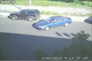 Девушка и парковка