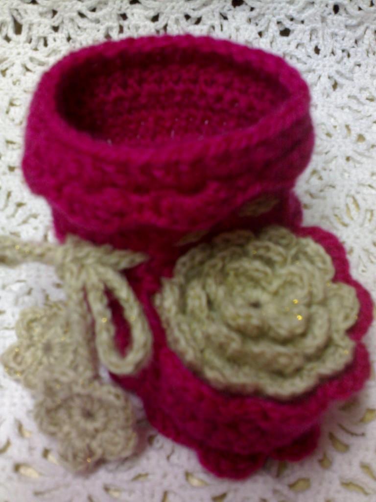 Вязание пинеток с розочками