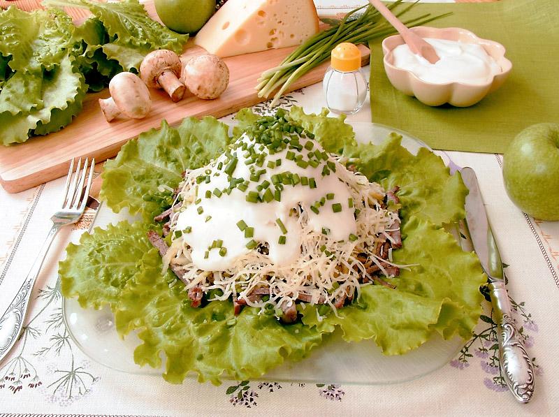 Мясной салат рецепт очень вкусный с