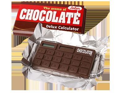 """Калькулятор """"Шоколад"""" Самый аппетитный в мире калькулятор ШОКОЛАТОР сделан в форме плитки шоколада. Но самое невероятное в том, что он ещё и пахнет как самый настоящий шоколад!"""