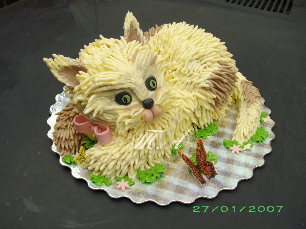 Мастер класс кошечки на торт