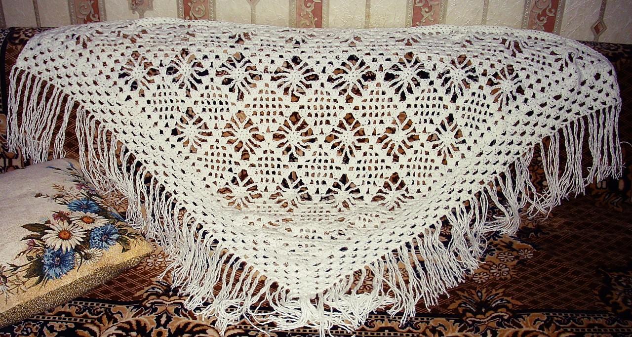 Вязание крючком паучок для шали 320