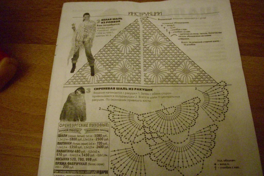 Показать схему шали вязание крючком