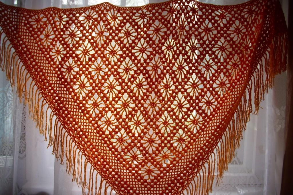 Вязаный палантин крючком схемы вязания. Красивые ажурные 39