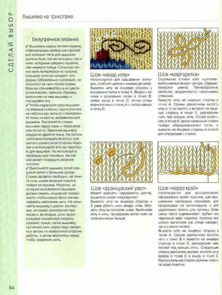 Трикотаж вышивка по петлям схемы вышивки