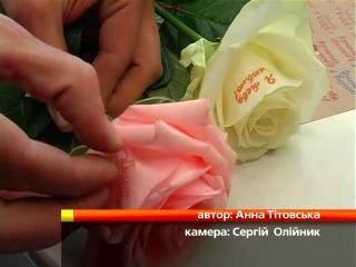 Надписи на цветах