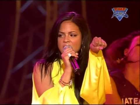 Christina Milian - AM To PM & When You Look At Me (Live TMF Awards 2002)  ' EasyridersWebsite '