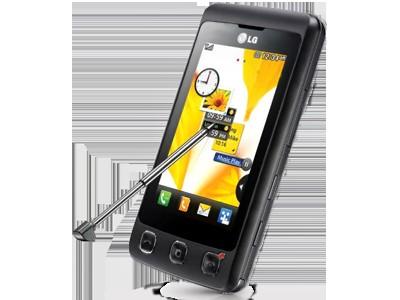 Мобильный телефон LG KP500 с поворотным экраном