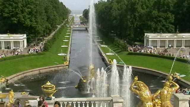 Петродворец,фонтаны.2009 г.