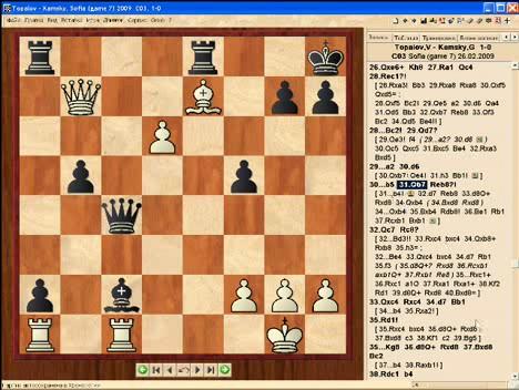 В 11-й партии матча на первенство мира по шахматам между владимиром крамником и веселином топаловым