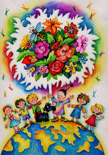 Мир картинки своими руками для детей