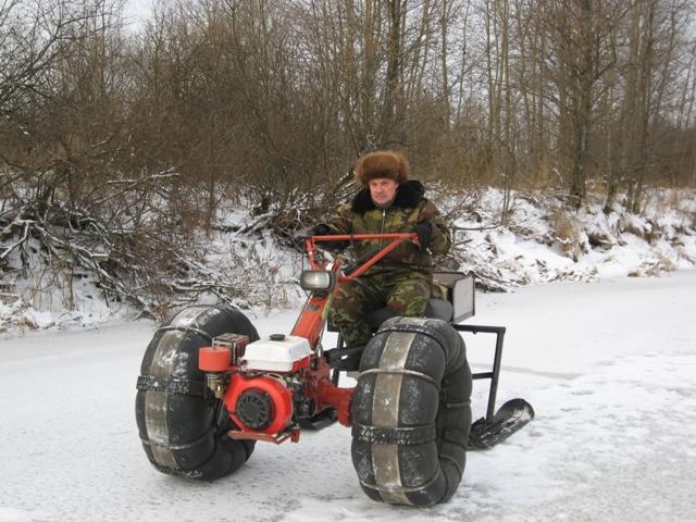 Снегоход с мотоблока