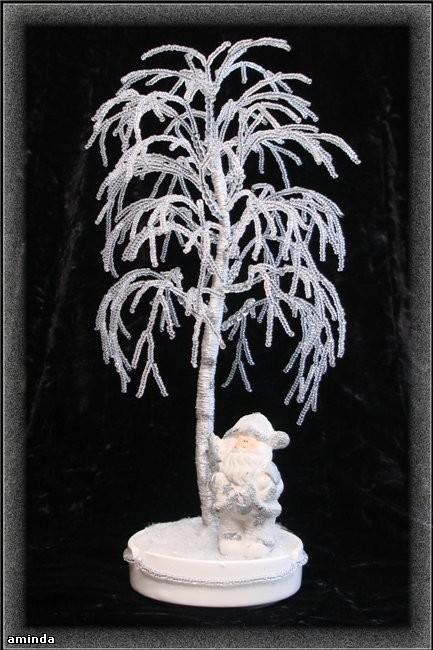 Бисероплетение зимняя береза мастер класс