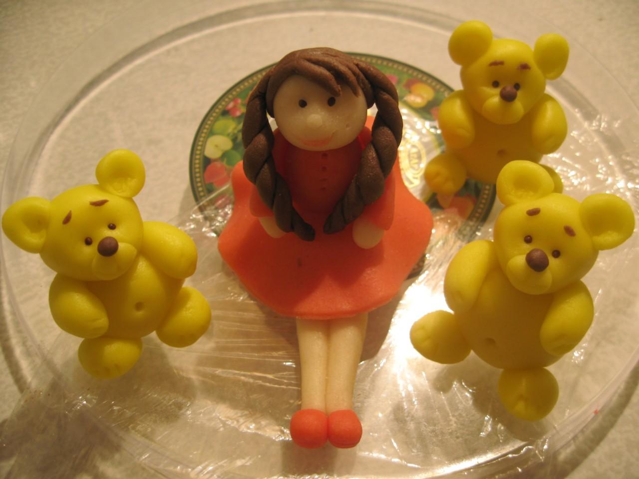 Фигурки на торт из марципана своими руками