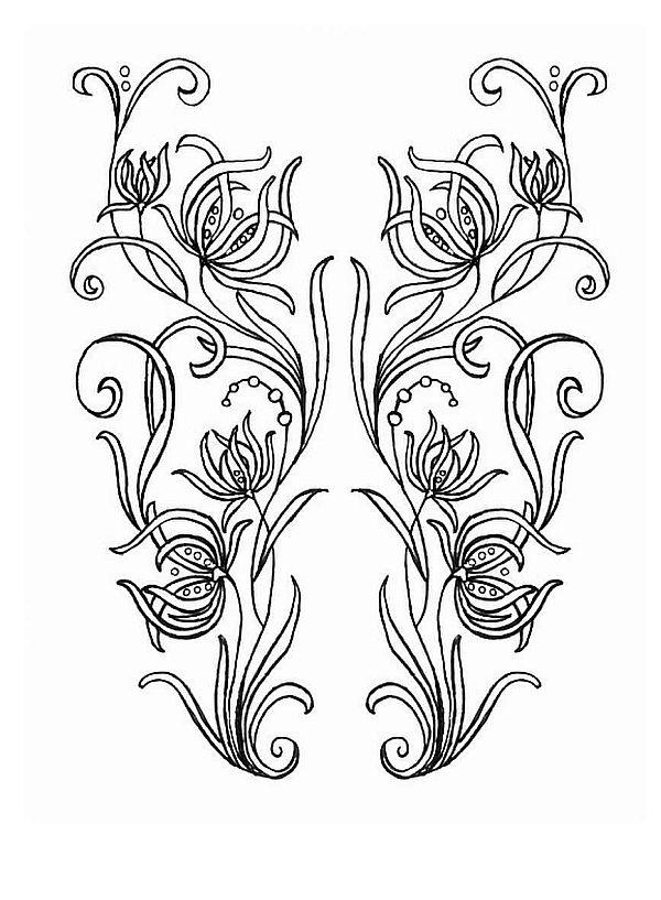 Узоры на ткани цветы для