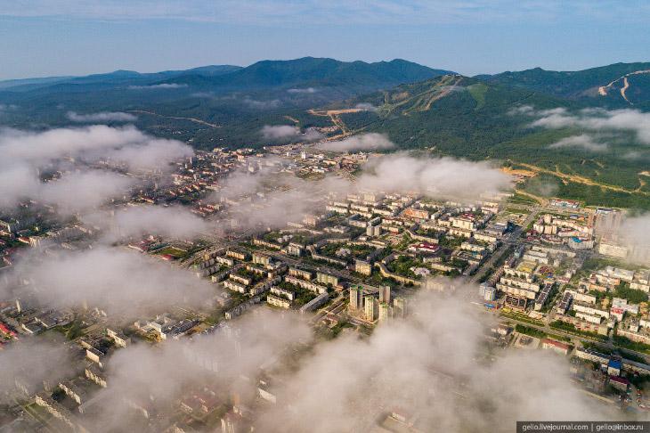 Южно-Сахалинск с высоты— город с японским наследием