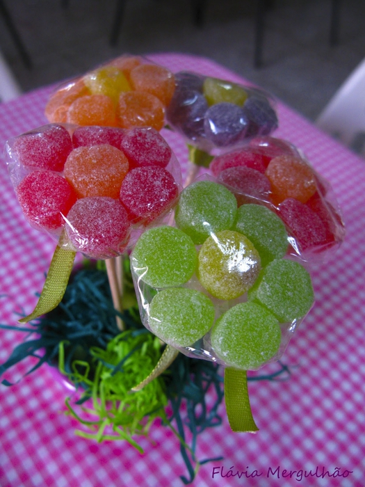 Цветы из мармелада своими руками