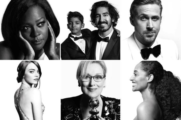 Стильные портреты звёзд с церемонии «Золотой глобус» 2017