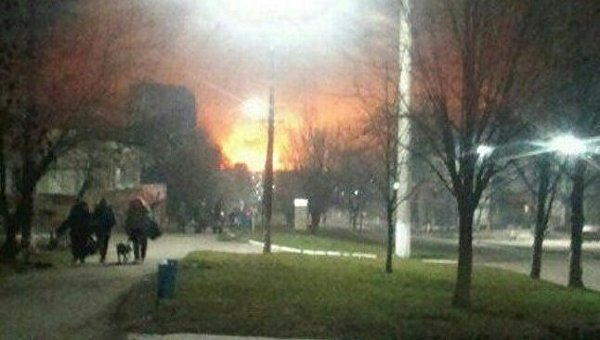 НаУкраине взорвался крупнейший склад боеприпасов