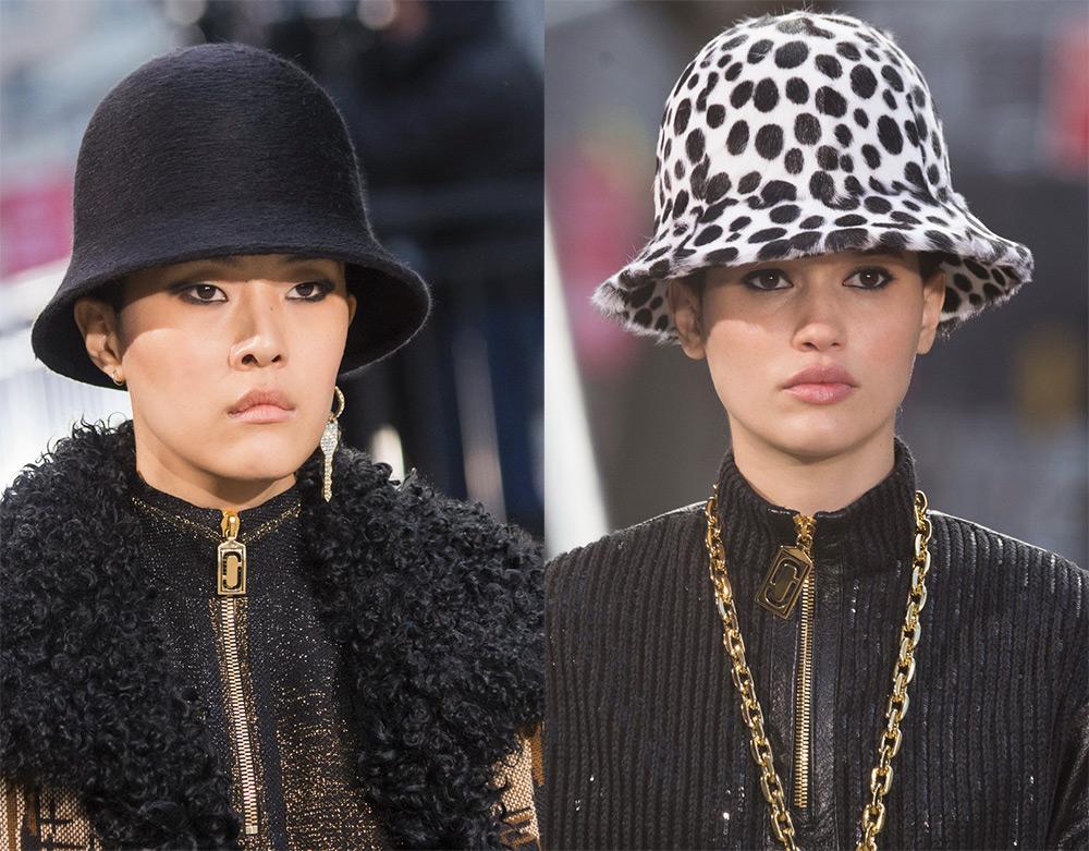 Модные шляпки на моделях