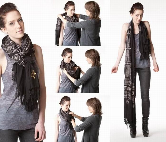 Как красиво носить шарф: 9 модных весенних идей
