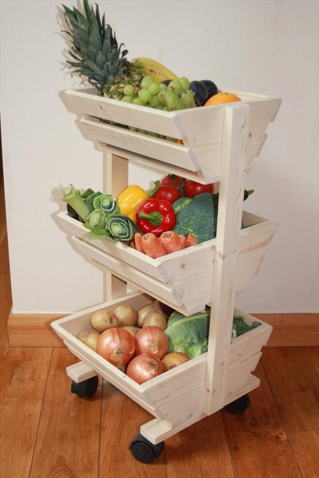 Овощам при комнатном хранении нужен приток воздуха