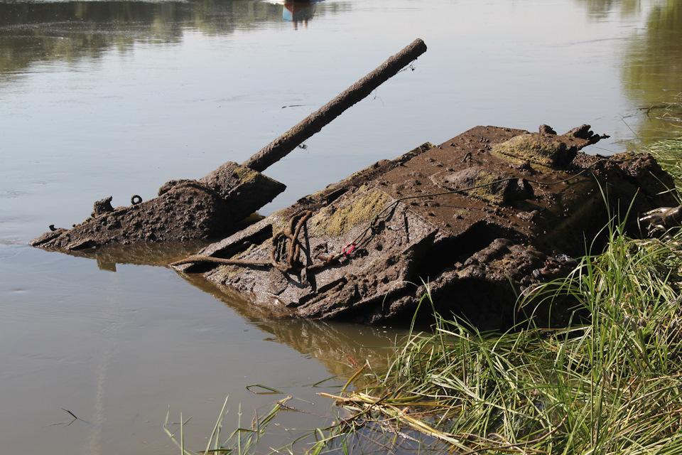 Подъём Т-34-76 из реки Дон