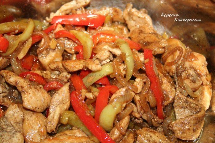 Курица с овощами и соевым соусом. Масса восторженных отзывов, вам обеспечена!
