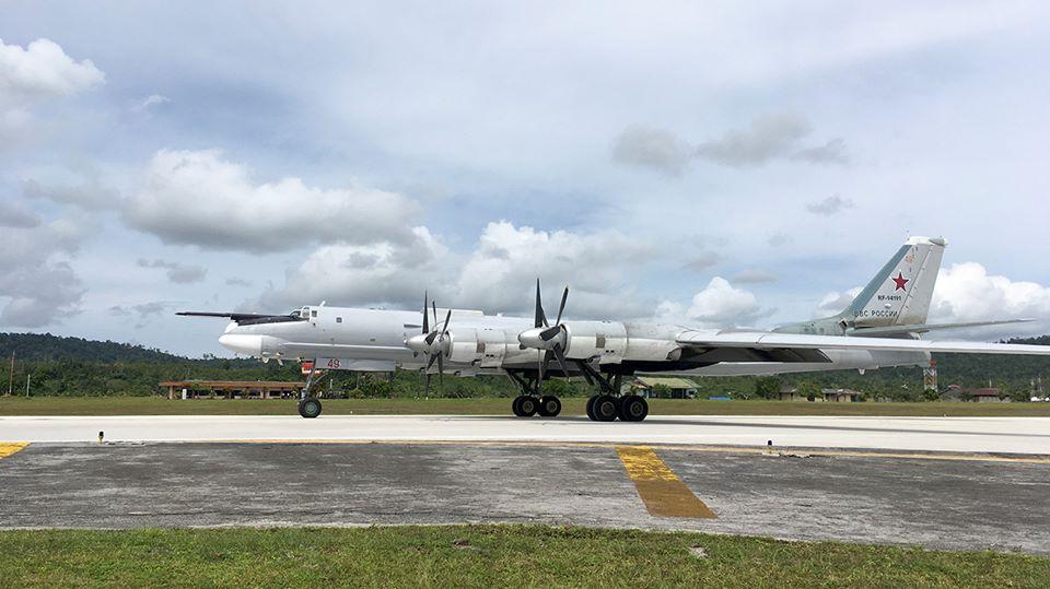 Российские стратегические бомбардировщики Ту-95МС в Индонезии