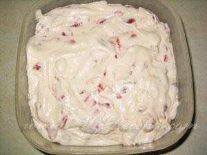 Торт-мороженое с клубникой