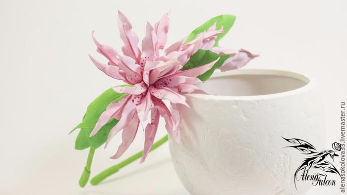 Лепим махровую лилию Magic Star из фоамирана