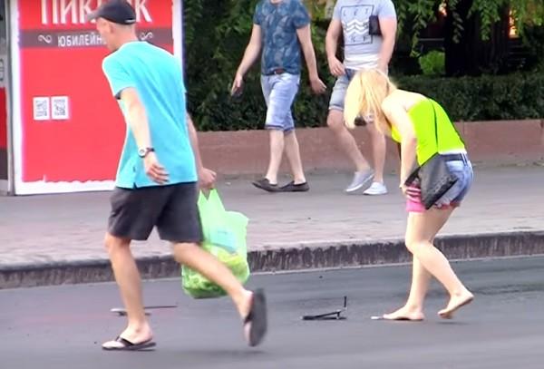 Шлёпки на асфальте или реальный стёб от дорожников Волгограда