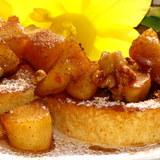 Pfannkuchen, оладьи с карамельными яблоками